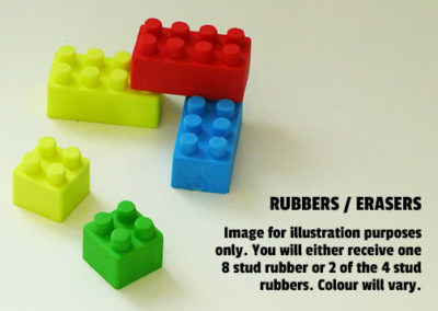 Party Bag Fillers Brick Rubbers
