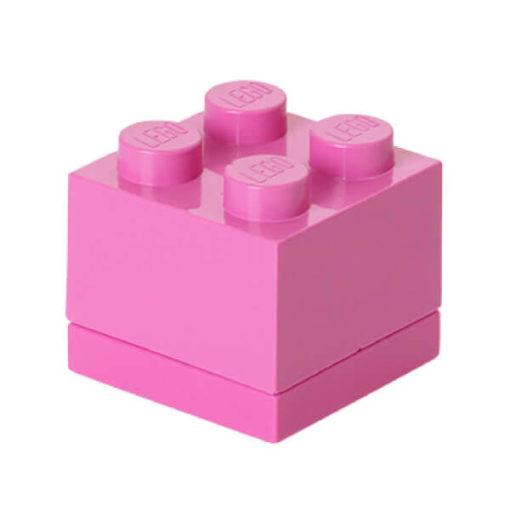 lego mini box for snacks in pink