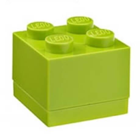 lego mini box for snacks in green