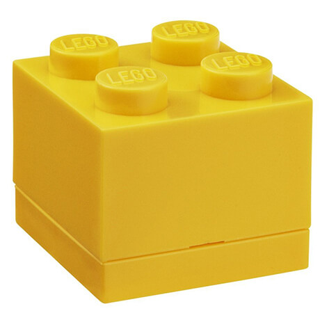 lego mini box for snacks in yellow