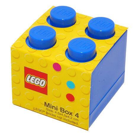 lego mini box for snacks in blue