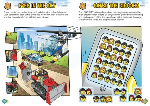 Lego City Activity Book example pages