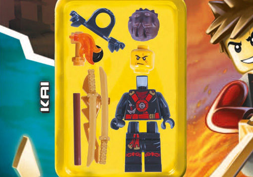 Close up image of Lego Ninjago Kai Minifigure