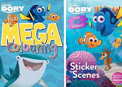 Finding Dory Mega Colouring and Sticker Scenes books