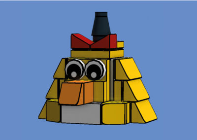 brick-angry-birds-chuck-yellow-render