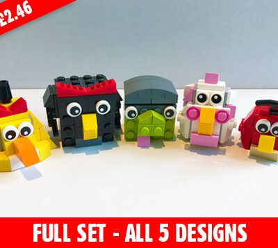 our range of five angry birds mini builds