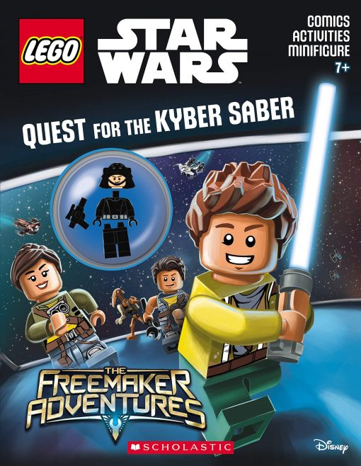 Front cover image and minifigure of Lego Star Wars activity book