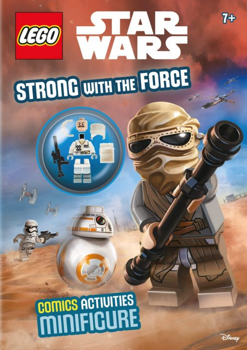 front cover of Star wars Lego activity and minifigure book