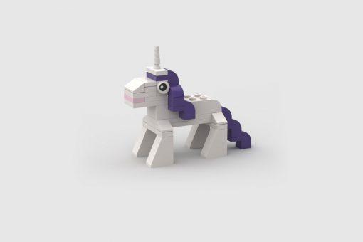 Rarity unicorn my little pony lego moc build