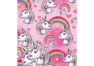 Unicorn Emoji Wrapping Paper and Gift Tags