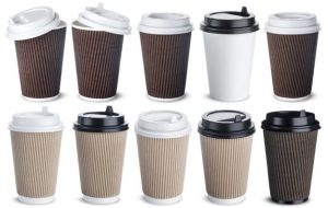 a photo of recyclable coffee cups
