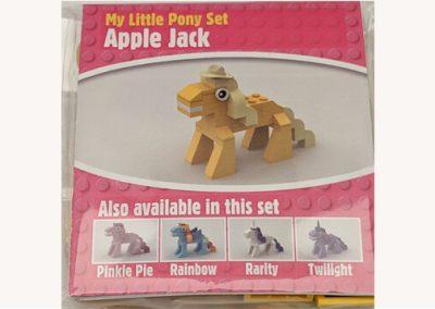 lego moc applejack my little pony packet