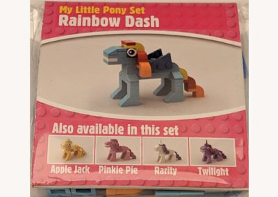 Rainbow dash mini build moc lego raindow dash pony